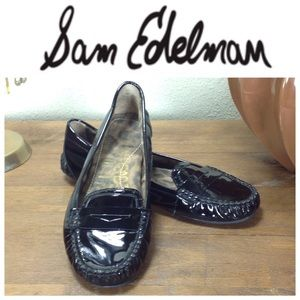 Sam Edelman Black Patent Leather Driving Loafer